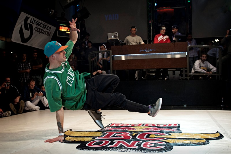 B-Boy Cima competing at Red Bull BC One Cypher Italy in Florence on March 10, 2012.